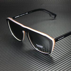 Burberry Multi Layer Checkered 55mm Sunglasses